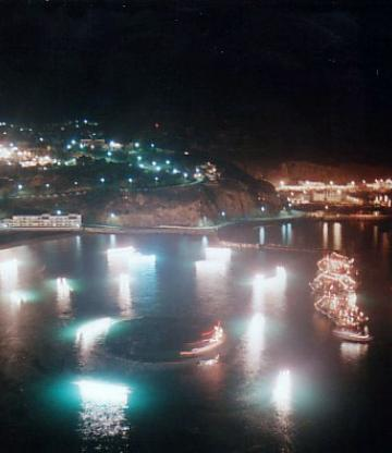 Alhoceima city by night