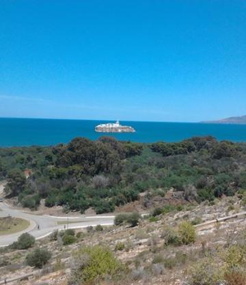 Vue de Nekor depuis Sfiha, Alhoceima